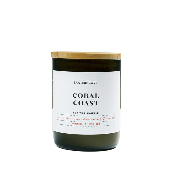 Lanterncove Jade Soy Wax Candle - Coral Coast