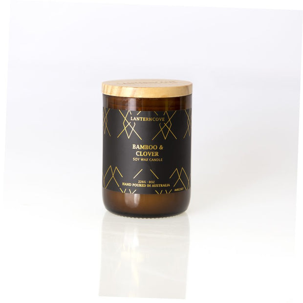 Amberesque Soy Wax Candle - Bamboo & CloverAmberesque Soy Wax Candle - Bamboo & Clover