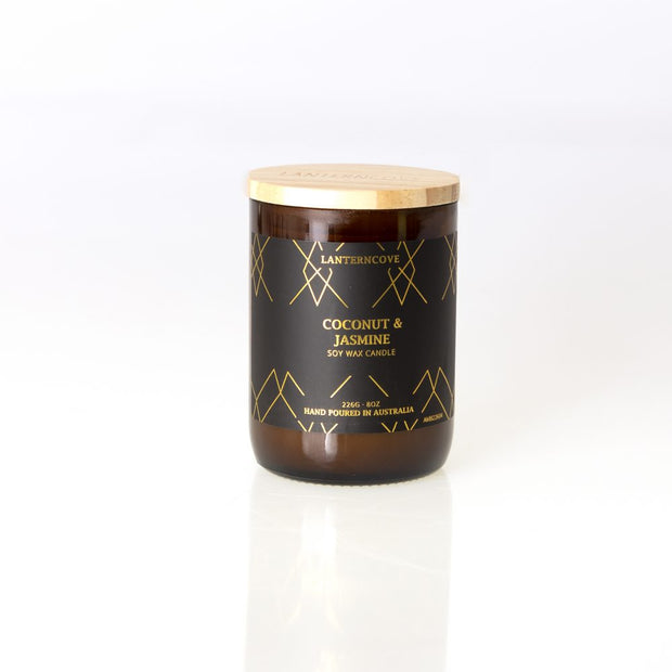 Amberesque Soy Wax Candle - Coconut & Jasmine
