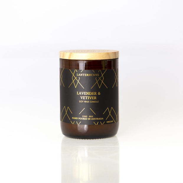 Amberesque Soy Wax Candle - Lavender & Vetiver
