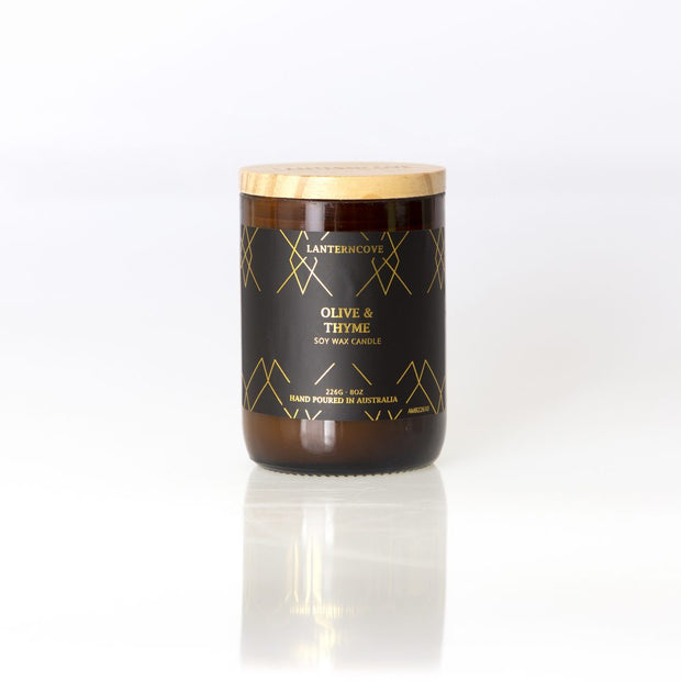 Amberesque Soy Wax Candle - Olive & Thyme