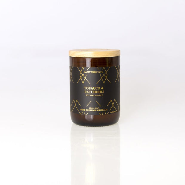 Amberesque Soy Wax Candle - Tobacco & Patchouli