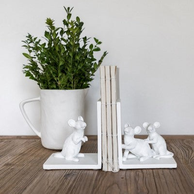 White Mouse Bookends
