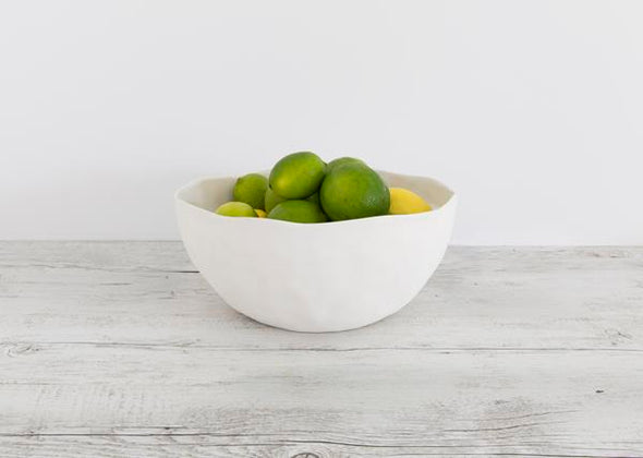 Flax Salad Bowl 29cm - White