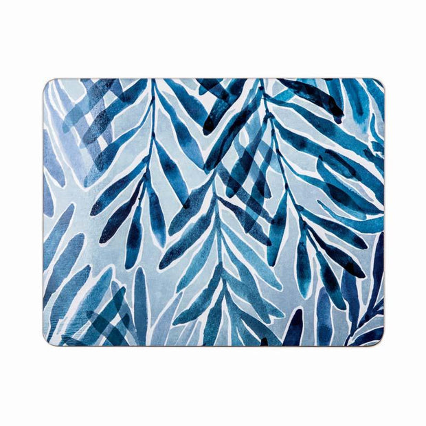 Palm Springs Teal Rectangle Placemats Set of 4