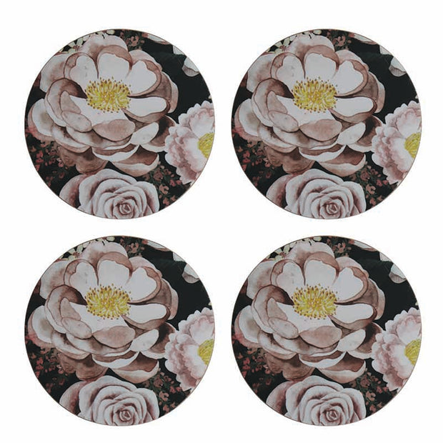 Grace Round Coasters - Set of 4 by Madras Link Homewares