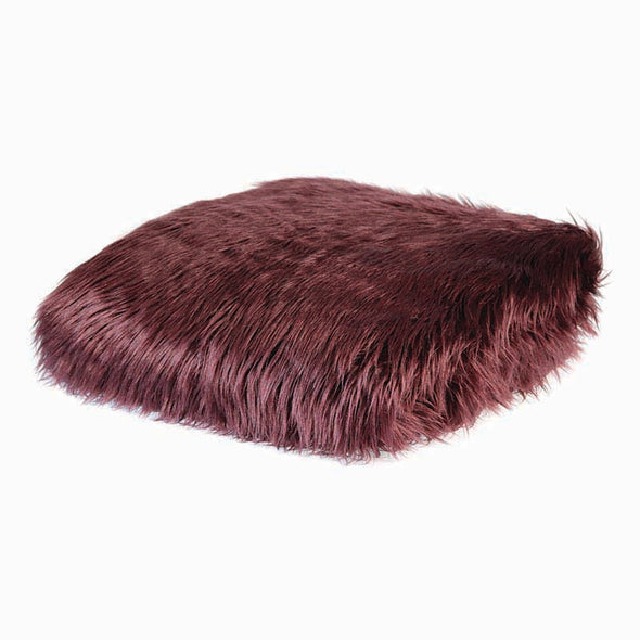 Kashmir Claret Faux Fur Throw by Madras Link Homewares