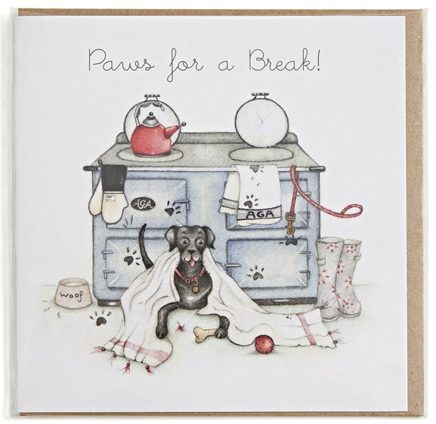 Paws for a Break! Greeting Card