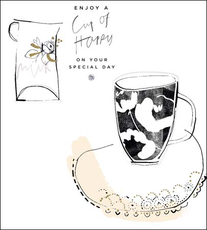 Cup of Happy Birthday Card