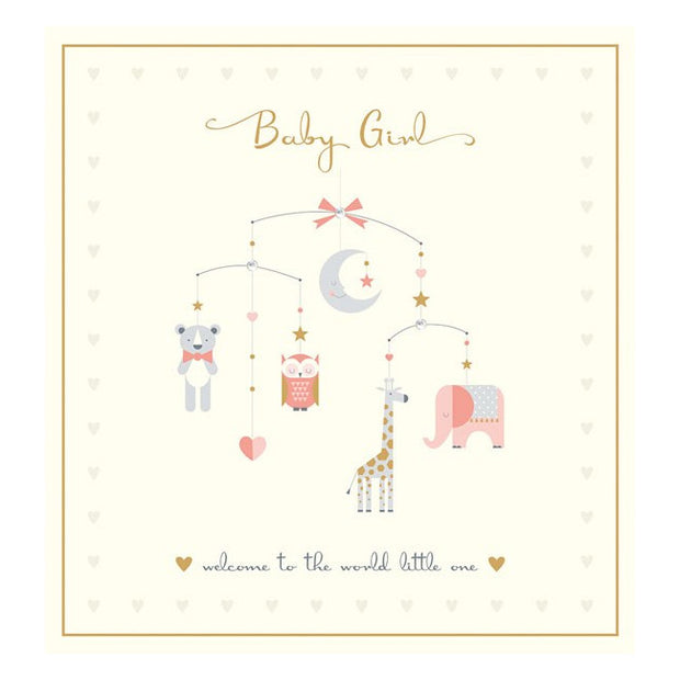Baby Girl Crystal Card