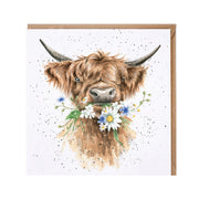 Wrendale Daisy Cow Greeting Card