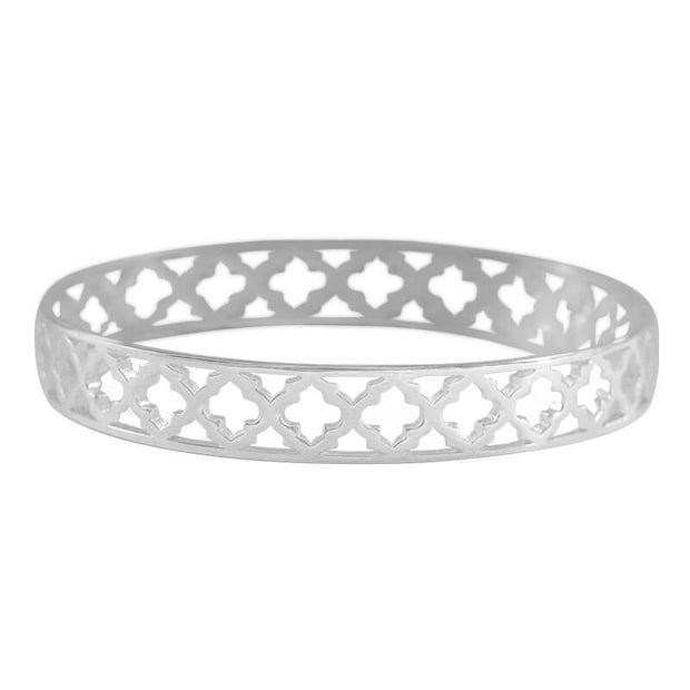 Moroccan Bangle - Sterling Silver