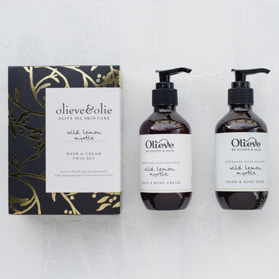 Olieve & Olie Wash & Cream Twin Set - Wild Lemon Myrtle