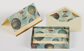 Air Balloons Boxed Fold Over Cards