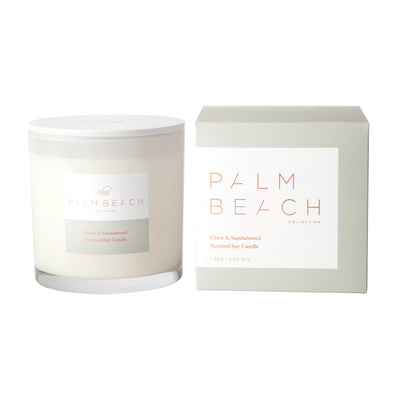 Clove & Sandalwood Deluxe Candle by the Palm Beach Collection