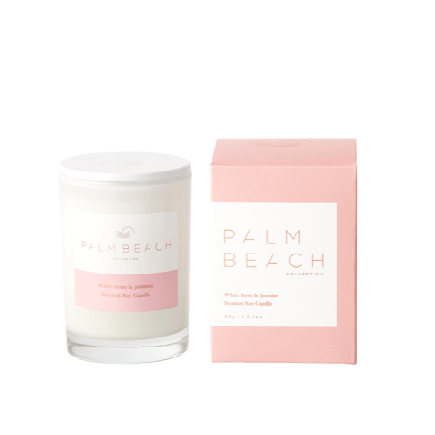 White Rose & Jasmine Mini Candle by the Palm Beach Collection