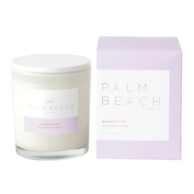 Palm Beach Collection Jasmine and Cedar Standard Candle