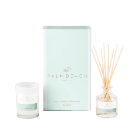 Palm Beach Sea Salt Mini Diffuser & Candle Pack