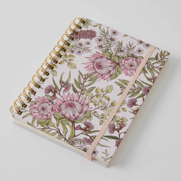 Flora A5 Spiral Bound Journal