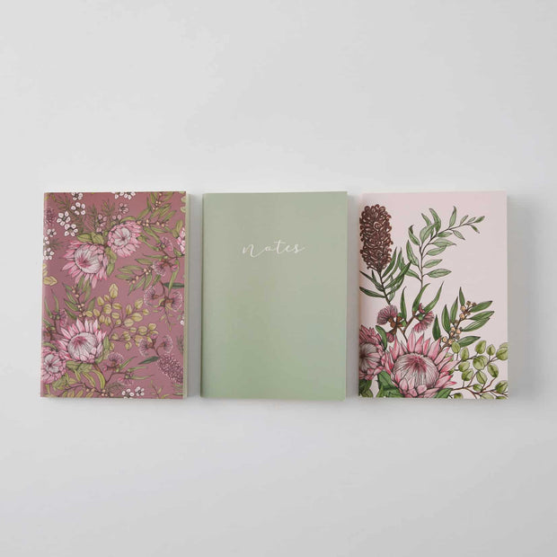 Flora Pocket Notebooks 3 Pack