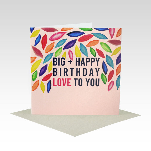 Coloured Leaves Birthday Card