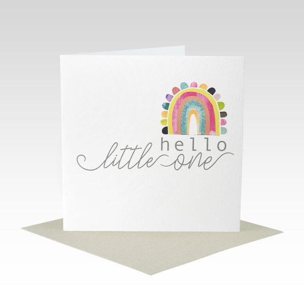 Hello Little One Rainbow Card