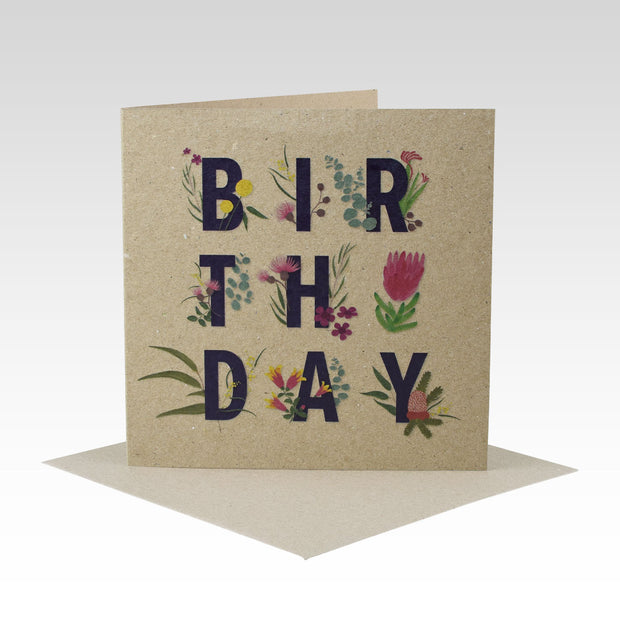 Birthday Australiana Floral Card