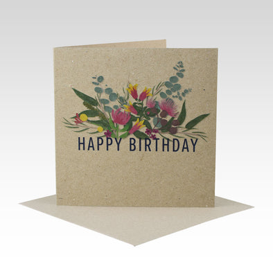 Australiana Floral Birthday Card