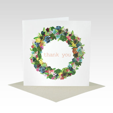 Succulent Wreath Thankyou Card