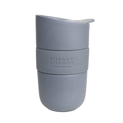 Ceramic Travel Mug with Heat Band - Matte Grey by Robert Gordon
