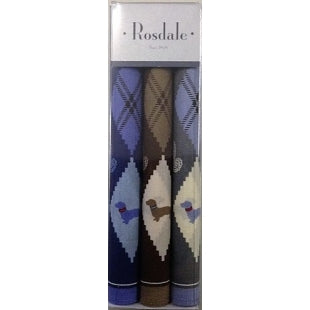 Mens 3 Pack Handkerchiefs - Dachshunds by Rosdale and Armando Caruso