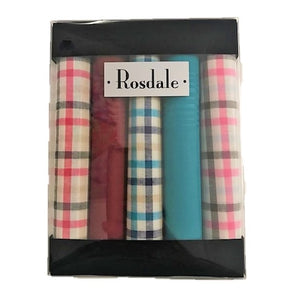 Rosdale Mens 5 Pack Handkerchiefs - Traditional