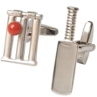 Cricket Bat & Stumps Cufflinks