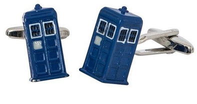 Tardis Cufflinks - the gift for a Dr Who fan