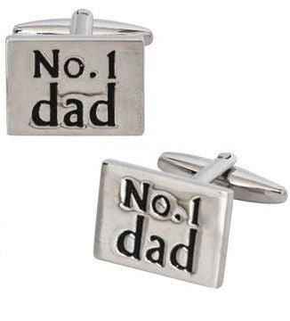 No 1 Dad Silver Cufflinks