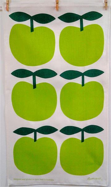 Big Bright Green Apples Tea Towel by Rodriquez