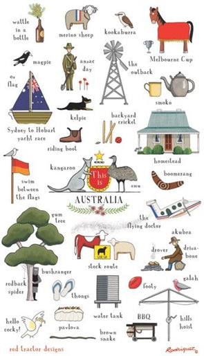 This is Australia Tea Towel by Rodriguez
