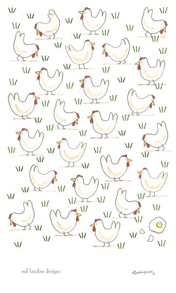 Free Range Egg Tea Towel by Rodriquez