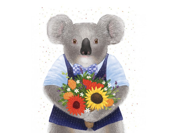 Mini Card - Koala Bouquet