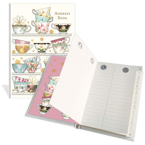 Tea Cups Address Book