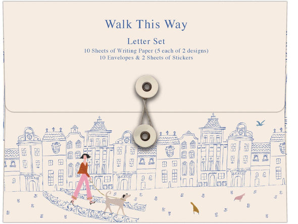 Walk This Way Writing Paper Set by Roger la Borde