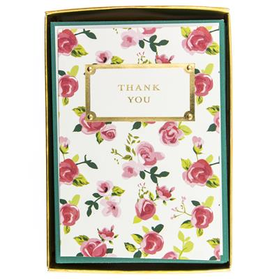Pretty Floral Thank You Boxed Cards by Graphique
