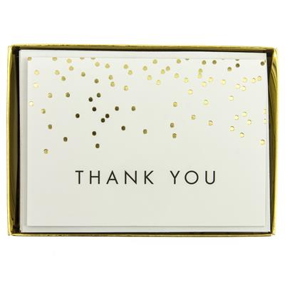 Falling Dots Thank You Boxed Cards by Graphique