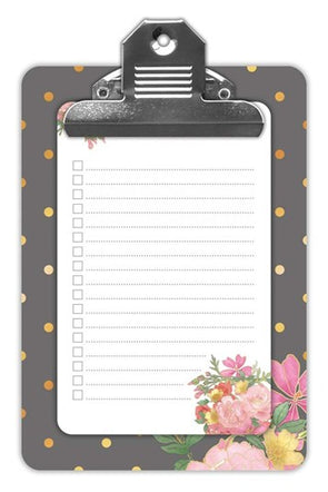 Polka Dot Mini Clipboard with List Pad