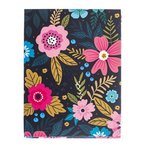 Navy Floral Pocket Note by Graphique