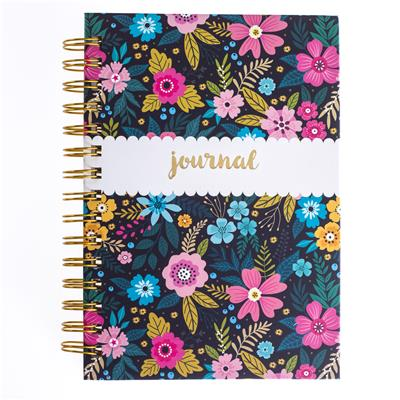 Navy Floral Hard Bound Journal by Graphique