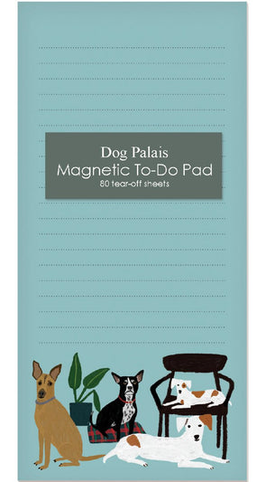 Dog Palais Magnet Notepad by Roger la Borde