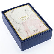 Graphique Pink Marbled Thank You Boxed Cards