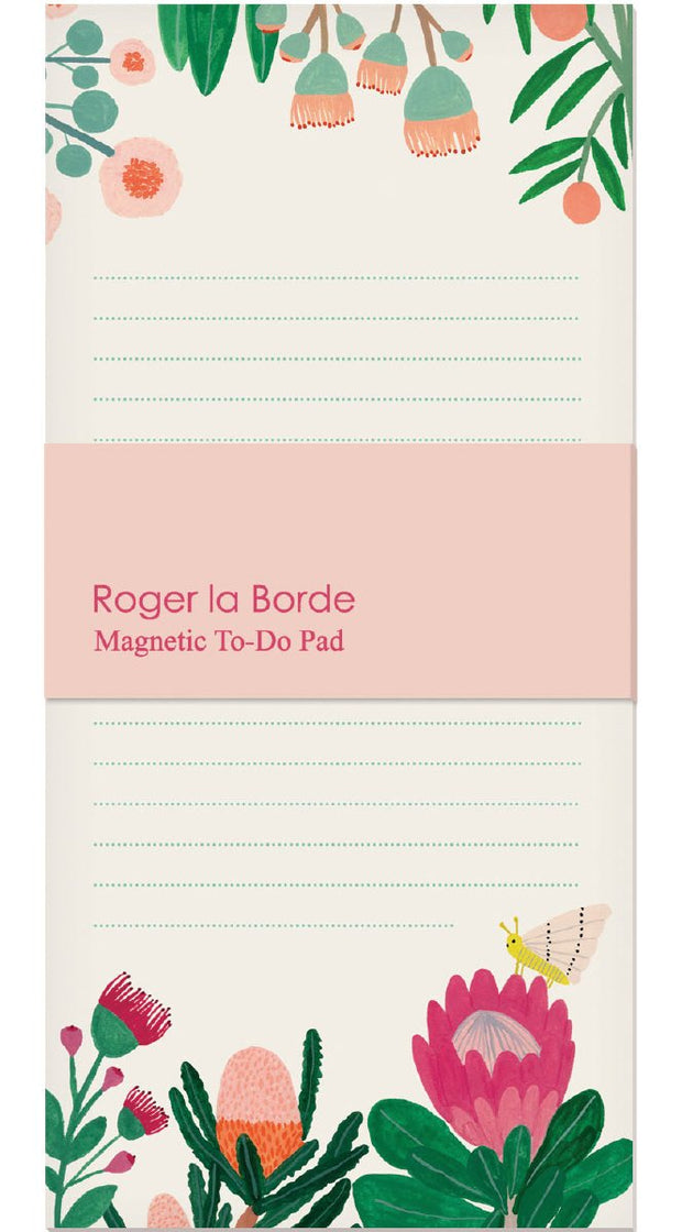 Roger la Borde King Protea Magnet Notepad