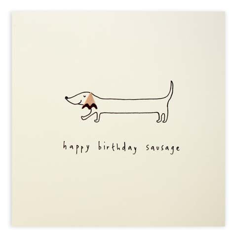 Pencil Shavings Birthday Sausage Dog Greeting Card